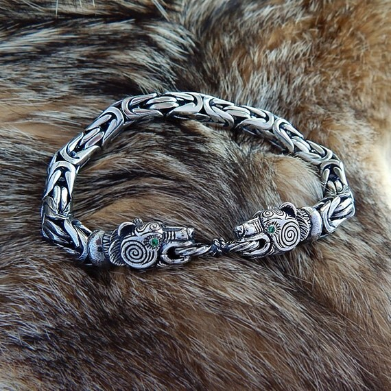 Viking Bear Bracelet Bear Head Bracelet Massive Viking