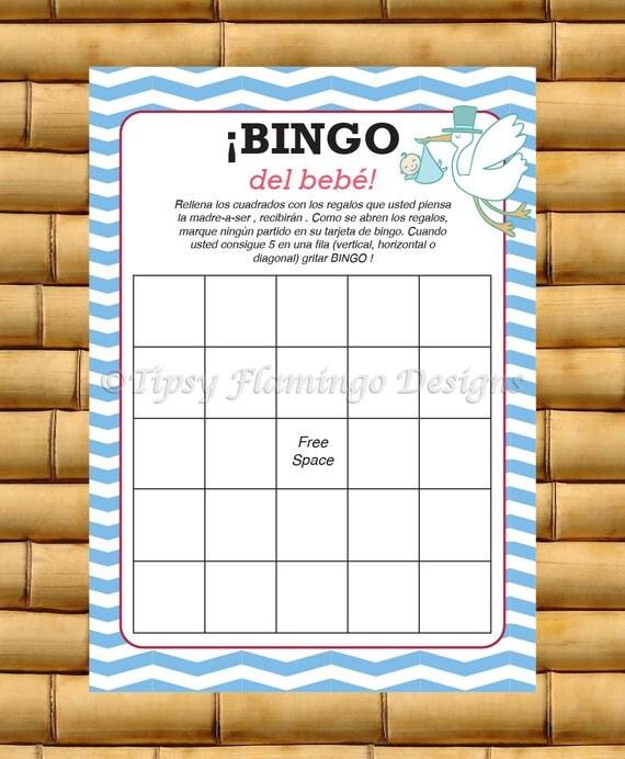spanish baby shower game spanish bingo espanol baby shower game