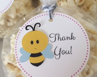 Bumble Bee Baby Shower Thank You / Favor Tags (Boy & Girl)