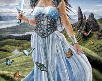 Queen of Swords - Tarot Fine Art Print