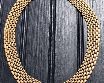 Vintage Gold Tone Chain Choker
