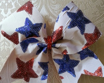 All Star Sequin Stars Cheer Bow