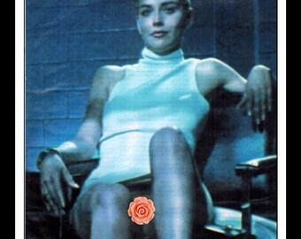 "Mature Celebrity Nude : Sharon Stone Single Page Photo Wall Art Decor 8.5"" x 11"""