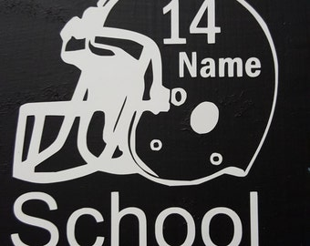 Football Helmet Name Decal