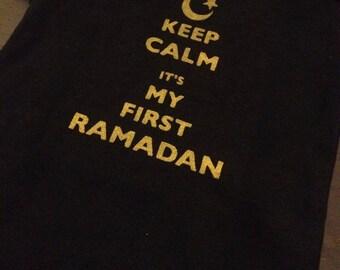 Keep Calm It's My First Ramadan, Muslim Baby Onesie