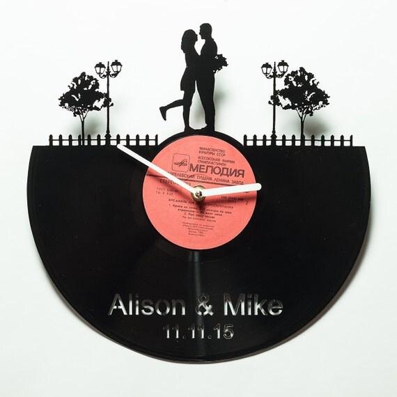 Wedding Gift Custom Clock Wedding Gift By Secondlifeforvinyl