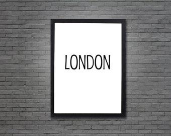 London - Black | Digital Art, Printable