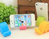 Small Elephant Cell Phone Holder Mini Silicone Smart Phone Stand Index Card Holder Fun Pen & Pencil Holder Glasses Holder iPhone Stand