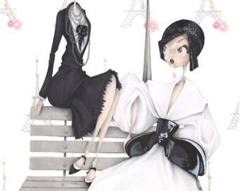 """Paris Haute Couture """"Chanel Dior"""" art print"""