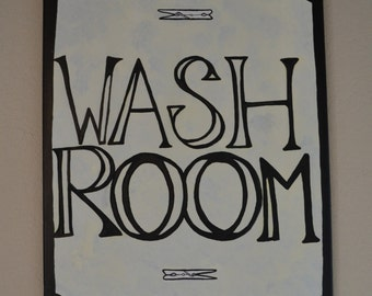 Wash Room Canvas