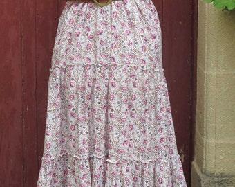 Floral 1970s Maxi Hippie Dress