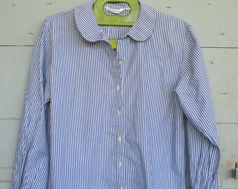 SALE Pretty Blue pinstripe shirt