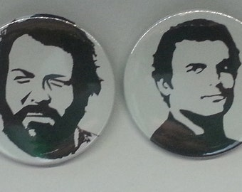 Bud Spencer and Terence Hill Buttons