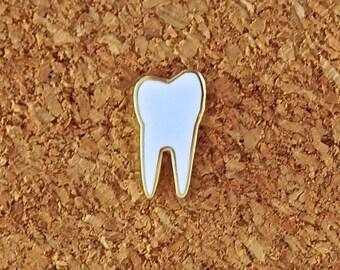 Tiny Enamel Tooth Pin