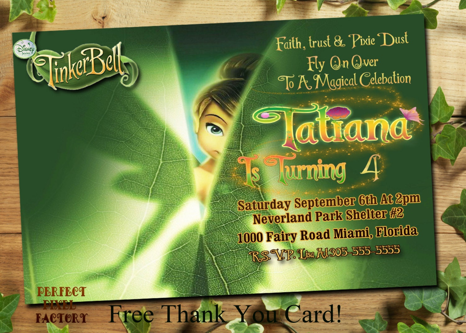 tinkerbell invitation tinkerbell birthday 128270zoom