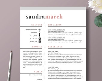 Leslie Mason Beautiful  And Page Resume Template For - Resume template pages
