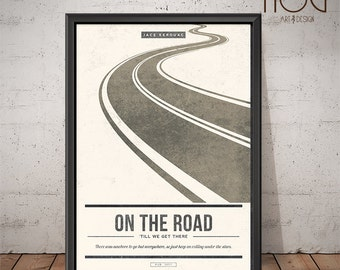 On The Road - Jack Kerouac - Unique Minimal Poster Design
