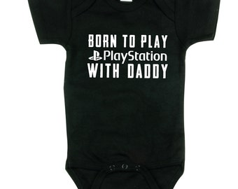 Baby Boy, Born to Play Playstation, Gaming Shirt, Gamer, Funny Baby Shower Gift, sizes from 0 to 12 months