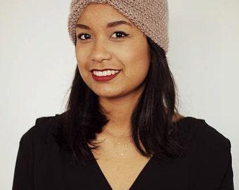 Beige wool headband