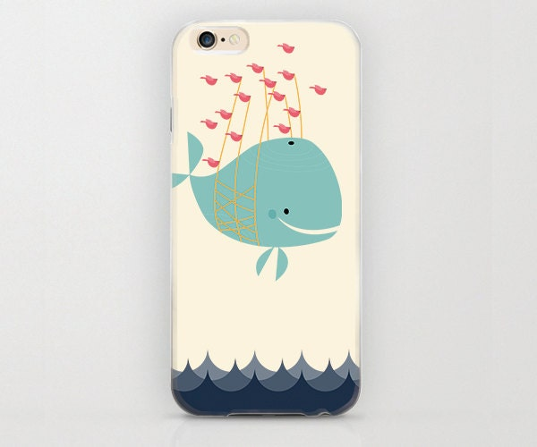 whale iphone case whale carried by fish iphone 6 adorable gift idea 13291