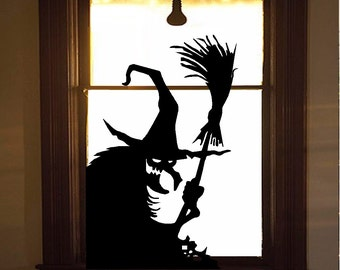 Wicked Witch #11, Wall or Window Decal : Halloween