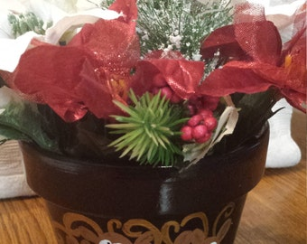 Reinderer Flower pot with Flowers