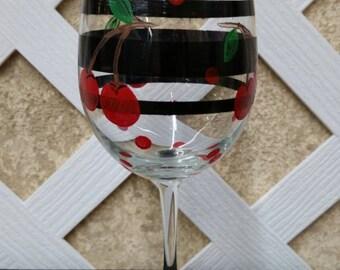 Cherry Wine Glass