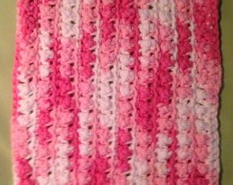 Handmade cotton face or dish cloth