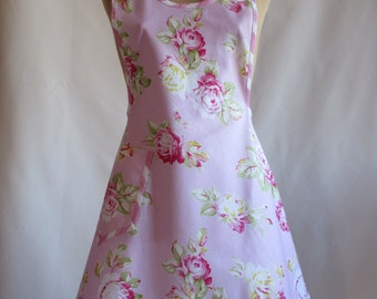 Vintage Style 1940s Floral Apron - The Rose
