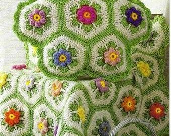 Crochet Round Afghan Etsy