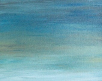 "Fine Art Print. Reproduction of an Oil on Canvas Painting  - ""Seascape #3: Evening"" - Ocean - Abstract Paining - Wall Art"
