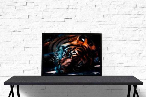 Https Www Etsy Com Listing 229331522 Tiger Poster Bedroom Decor Wildlife
