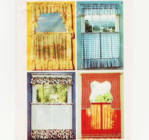 Curtain Pattern Simplicity 5494 1970s Cafe By UnderCutPatterns