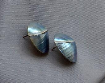 Grey sea Shell earrings