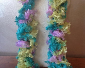 Fancy Easter Coloured Ruffle Scarf