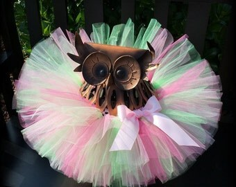 Tutu, Baby Girls Tutu, Pink and Green Tutu, Toddler Tutu, Cake Smash Tutu, Infant Tutu, Newborn Tutu, 1st Birthday Tutu, Birthday Tutu
