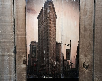 Flatiron Building - NYC Wall Art - NYC Photograph - New York Art - New York Wall Art - 11x17 - Wood Wall Art - New York Picture