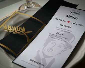 Menu wedding - Theme film-
