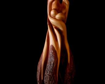 """Wood Sculpture, Stylized Figure, """"Eternal"""""""