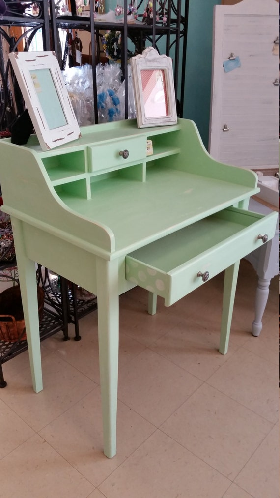 Items similar to SOLD Mint Green Shabby Chic Desk on Etsy
