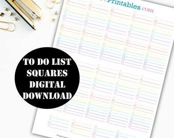 To Do List Checklist Printable Planner Stickers / Erin Condren Printable / Plum Paper / Planner Insert Instant Digital Download 00020