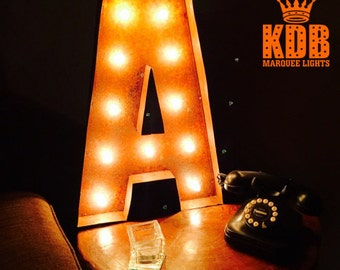 """Lighted Letter A Marquee Sign - 24"""" High"""