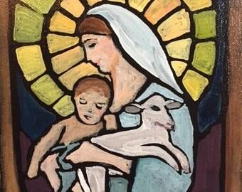 """Lamb of God 8"""" x 10"""""""