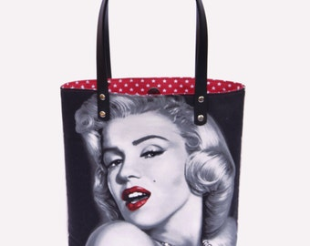 Handbag Hollywood Icon Marilyn Monroe american stars red bag