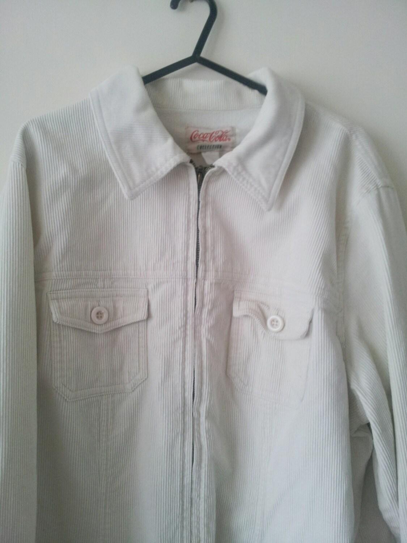 vintage mens shirt jacket 80s 90s cord corduroy coca