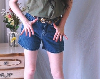 1980's Riders by Lee denim shorts, High-waisted Lee shorts