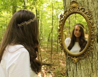 Virginia: Bridal Headband | Gold Bridal Headpiece | Wedding Hairband | Leaf Bridal Headband | Bridal Crown | Gold