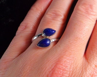 LAPIS LAZULI RING Size 8.5 Sterling Silver