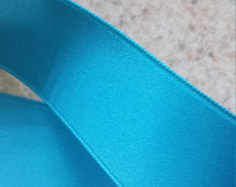 Malibu Blue Double Face Satin Ribbon  4 Yards - Choose Your Width