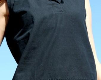 Hooded black vintage top.size s